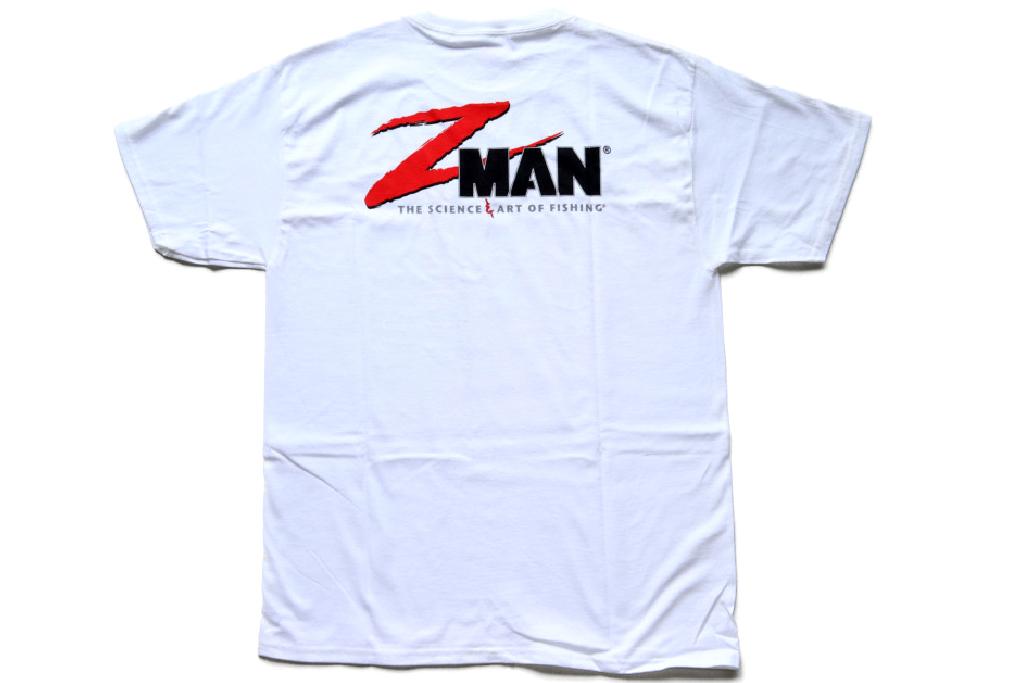 何かと使い勝手の良いホワイト T-シャツで、お馴染みのロゴ入り、『Z-Man ロゴ T-シャツ』