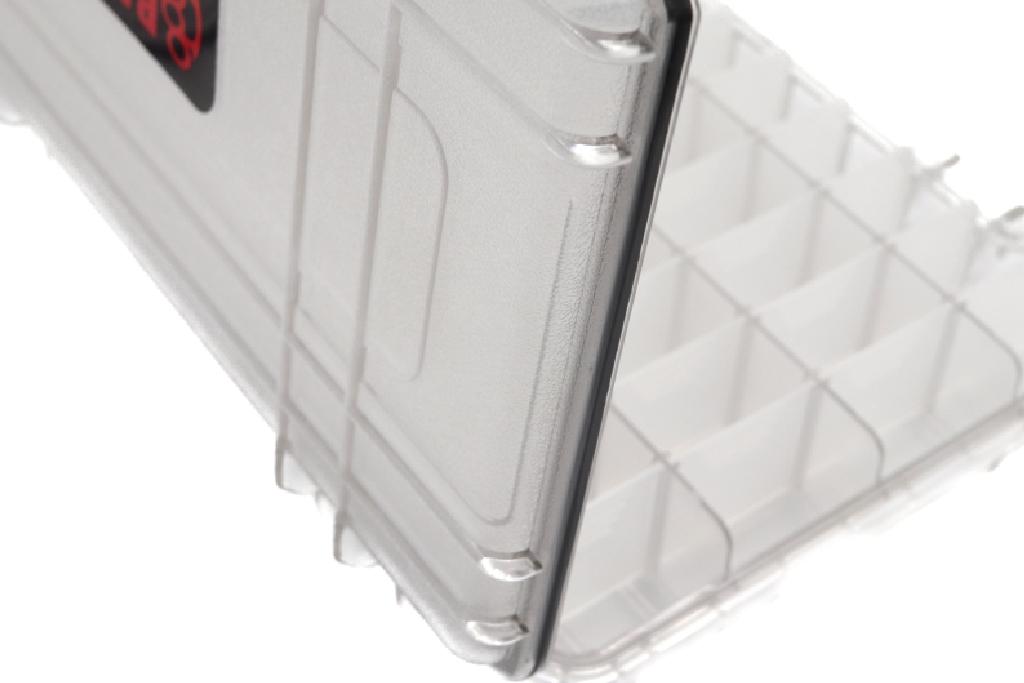 蓋には水の侵入を防ぐパッキン入り、ウォータープルーフ仕様。