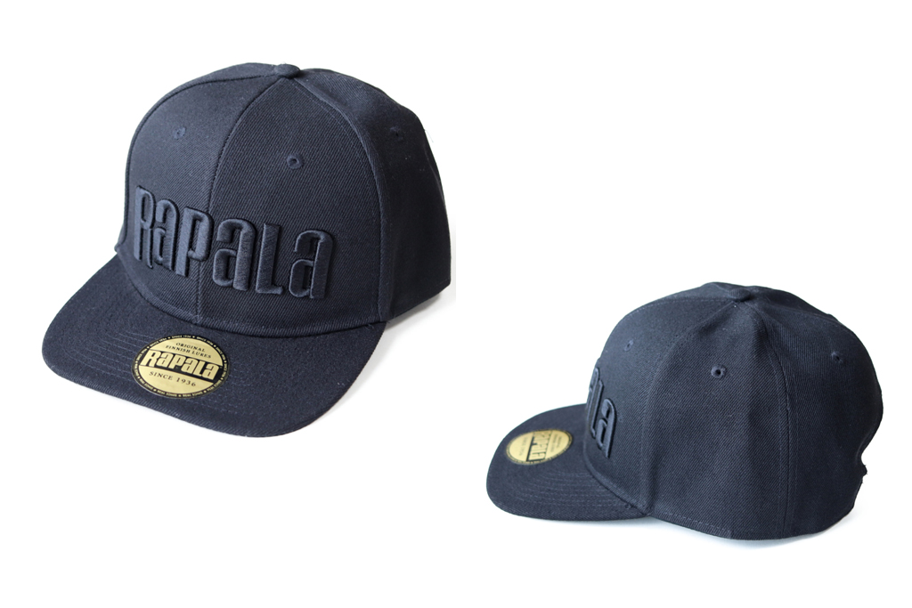 ラパラ『ラパラ ブラック フラット ブリム キャップ / Rapala Black Flat Brim Cap』