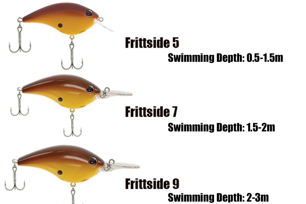 「フリットサイド」はもともと、「潜行深度」の違いで・・・、「5」「7」「9」の3モデルがラインナップされておりました。